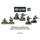 Bolt Action - USMC Bazooka, Sniper and Flamethrower Teams pas cher
