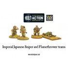 Bolt Action - Imperial Japanese Sniper and Flamethrower Teams pas cher