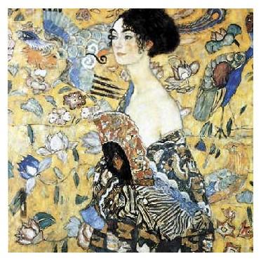 La dame à l'éventail - Klimt 80 pièces