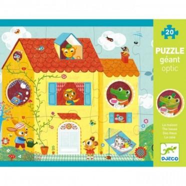 Puzzle Géant Optic - La Maison - 12 pièces