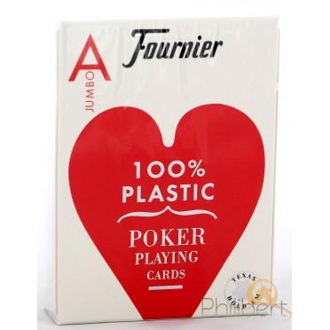 Fournier Poker Plastic - Jumbo : Rouge