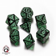 Blister 7 Dés Appel de Cthulhu Noir et Vert