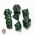 Set de Dés Appel de Cthulhu Noir et Vert 0