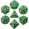 Set de Dés Elfiques Verts et Blancs 1