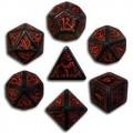 Set de Dés Elfiques Noirs et Rouges 0
