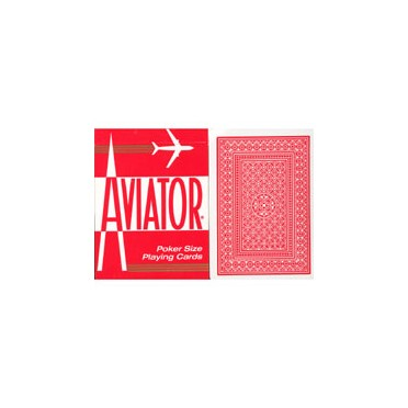 Aviator - rouge - Jeu de 54 cartes