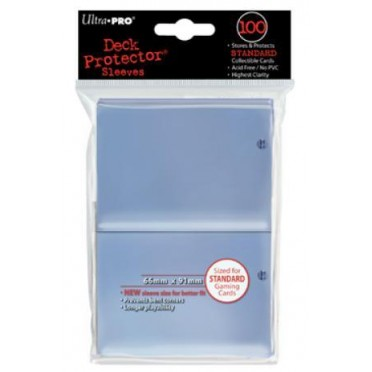 100 Deck Protector Transparent Regular Size
