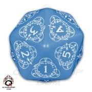 D20 Blue & white Card Game Level Counter