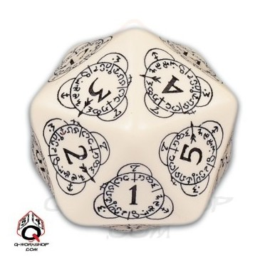 D20 Beige & black Card Game Level Counter