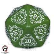 D20 Green & white Card Game Level Counter
