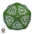 D20 Green & white Card Game Level Counter 0
