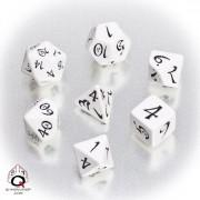 Set de dés elfe Blanc et Noir Classic