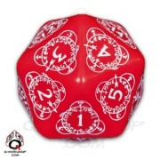 D20 Red & white Card Game Level Counter