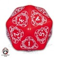D20 Red & white Card Game Level Counter 0