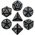 Set de Dés Elfiques Noirs et Blanc 1