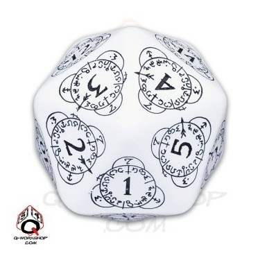 D20 white & Black Card Game Level Counter