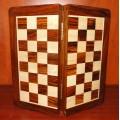 Jeu d'échecs pliant magnétique marqueté, 25 cm 1