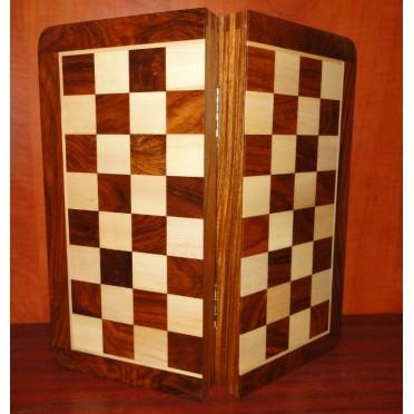 Jeu d'échecs pliant magnétique marqueté, moyen modèle