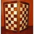 Jeu d'échecs pliant magnétique marqueté, moyen modèle 0