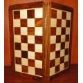 Jeu d'échecs pliant magnétique marqueté, moyen modèle 1