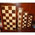 Jeu d'échecs pliant magnétique marqueté, moyen modèle 3
