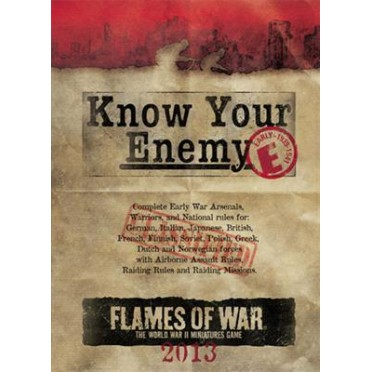 Know Your Enemy : Early War 2013 Edition