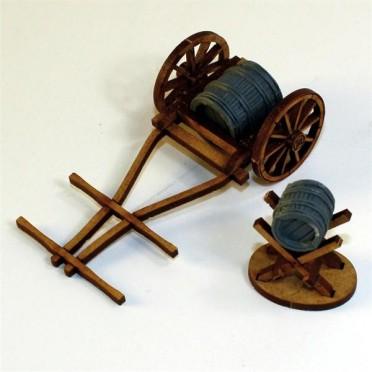 Chariot avec baril