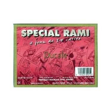 2 Jeux de 54 cartes spécial Rami