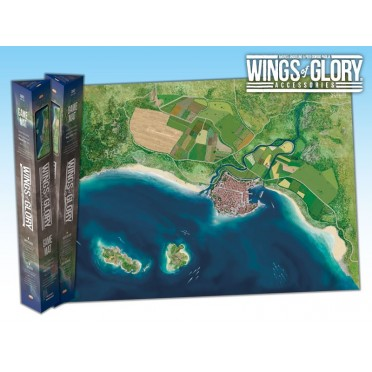 Terrain Mat Tissue - Wings of Glory : Game Mat Coast - 68x98