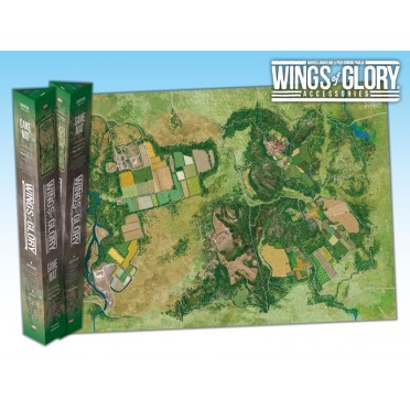 Terrain Mat Tissue - Wings of Glory : Game Mat Countryside - 68x98