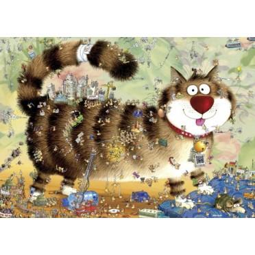 Puzzle - Cat's Life de Marino Degano - 1000 Pièces