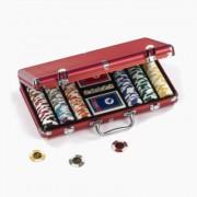 Mallette 300 Rouge Aluminium Euros