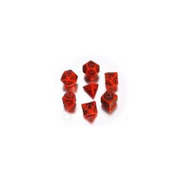 Set de Dés Dragon Rouge et Noir