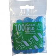 100 Pions 15 mm marquage Loto Bleu