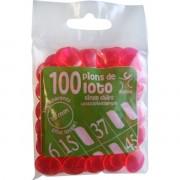 100 Pions 15 mm marquage Loto Fuchsia