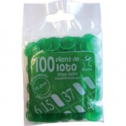 Pions 15 mm marquage Loto Vert