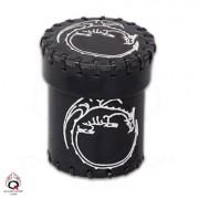 Gobelet à Dés - Dragon - Cuir Noir
