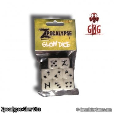 Zpocalypse: Glow in the Dark Dice