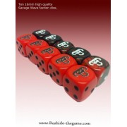 Bushido - Savage Wave Faction Dice
