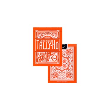 Tally Ho Cercle - Orange - Jeux de 54 Cartes