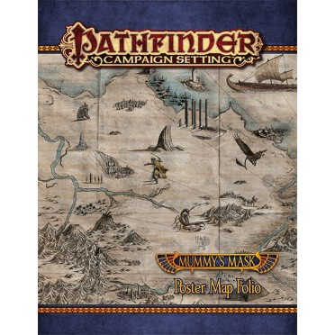 Pathfinder Campaign Setting Mummy's Mask Map Folio