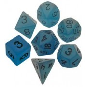 Resin Dice: 16mm Glow in the Dark Dice Set