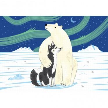 L'Ours et le Husky - 12 pièces