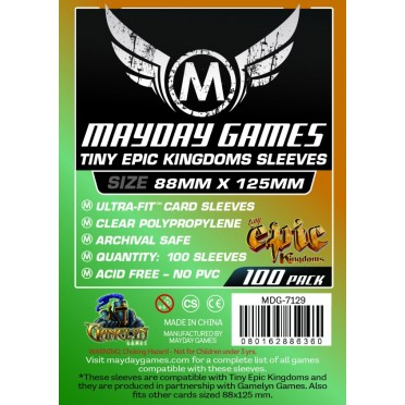 Card Game Sleeves - 88x125mm - 100p