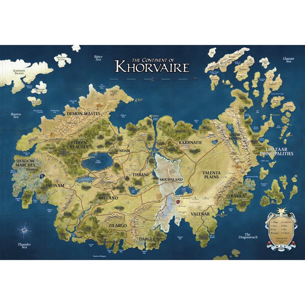 D Amp D Eberron Continent Of Khorvaire Vinyl Campaign Mat