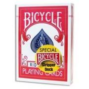 Biseaute Usine (standard Stripper Deck) - rouge - 54 Cartes spéciales - Bicycle