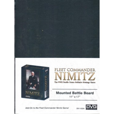 Fleet Commander Nimitz - Mounted Battle Board