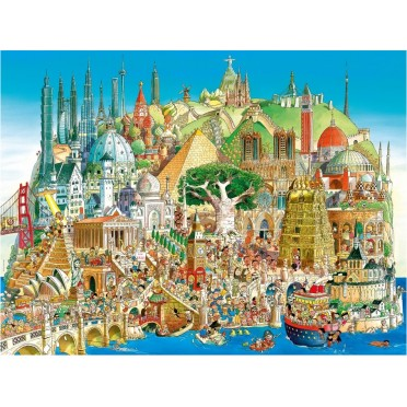 Puzzle - Global City de Hugo Prades - 1500 Pièces