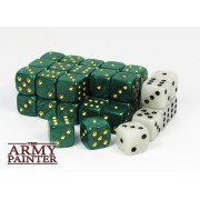 Set de 36 dés 6 - Wargaming Dice Green / White