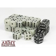 Set de 36 dés 6 - Wargaming Dice White / Black